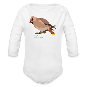 Ampelis Europeo-bird-shirt - Baby Bio-Langarm-Body