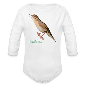 Buscarla Unicolor-bird-shirt - Baby Bio-Langarm-Body