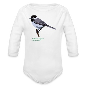 Carbonero Lúgubre-bird-shirt - Baby Bio-Langarm-Body