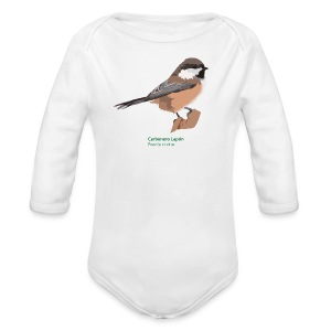 Carbonero Lapón-bird-shirt - Baby Bio-Langarm-Body