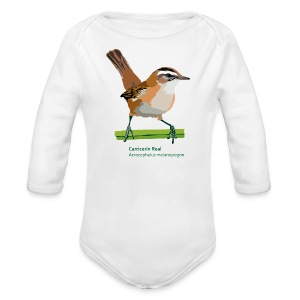 Carricerín Real-bird-shirt - Baby Bio-Langarm-Body
