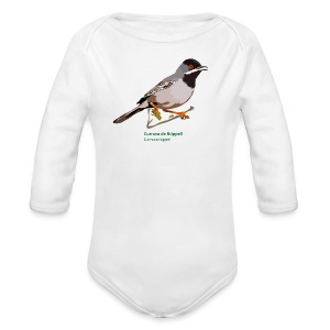 Curruca de Rüppell-bird-shirt - Baby Bio-Langarm-Body