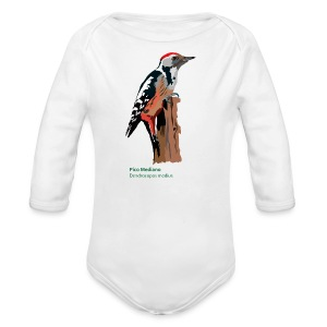 Pico Mediano-bird-shirt - Baby Bio-Langarm-Body