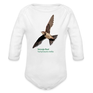 Vencejo Real-bird-shirt - Baby Bio-Langarm-Body