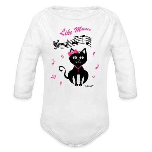 Kinder Bio T-Shirt - Like Music - Baby Bio-Langarm-Body