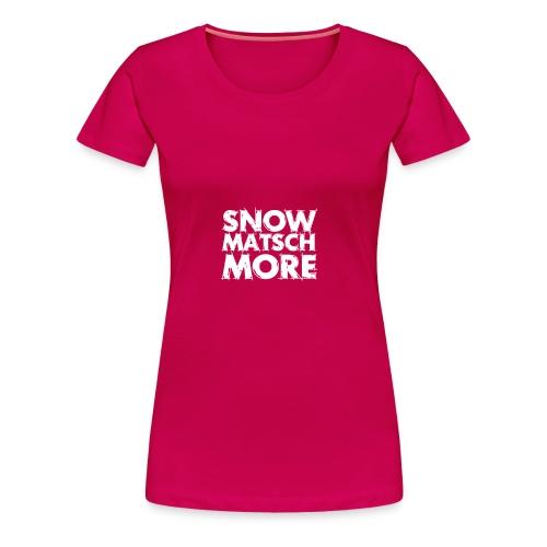 Snow Matsch More - T-Shirt Frauen mint/weiß - Frauen Premium T-Shirt