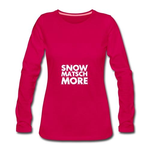 Snow Matsch More - T-Shirt Frauen mint/weiß - Frauen Premium Langarmshirt