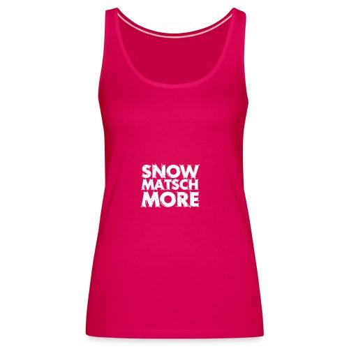 Snow Matsch More - T-Shirt Frauen mint/weiß - Frauen Premium Tank Top