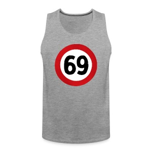 69 Traffic Road sign - Men's Premium Tank Top