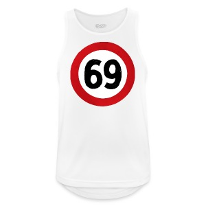 69 Traffic Road sign - Men's Breathable Tank Top