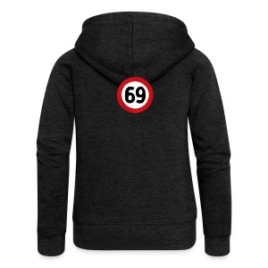 69 Traffic Road sign - Women's Premium Hooded Jacket