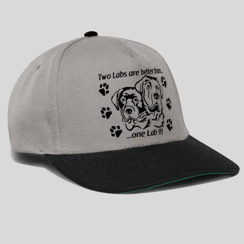 2 Labradorköpfe - Snapback Cap