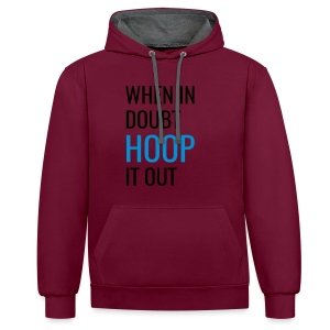 Hoop It Out v1 [Pink] - Contrast Colour Hoodie
