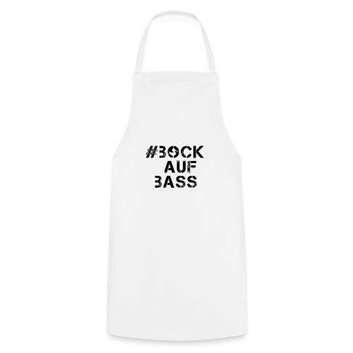 #BOCKAUFBASS T_Shirt White_n_Black_collar - Kochschürze