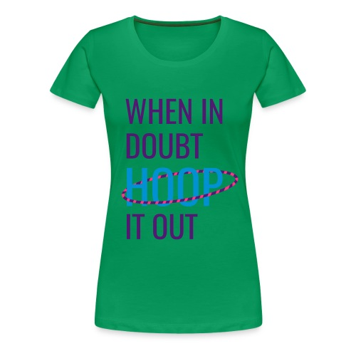 Hoop It Out [Lime] - Women's Premium T-Shirt