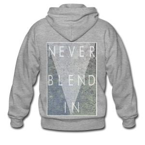 Grime Apparel Never Blend In Graphic Shirt.  - Men's Premium Hooded Jacket