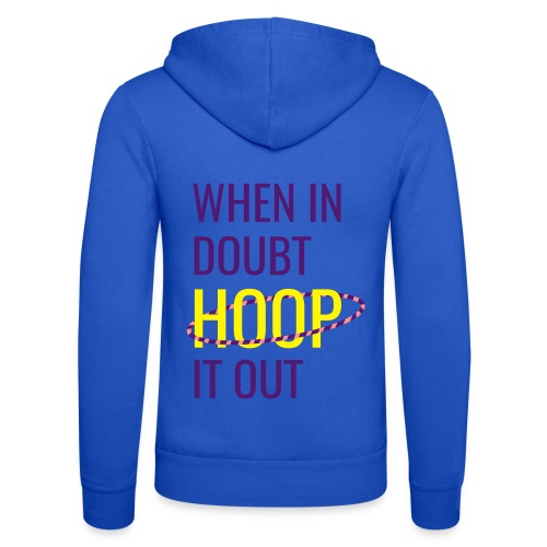 Hoop It Out [Blue] - Unisex Hooded Jacket by Bella + Canvas