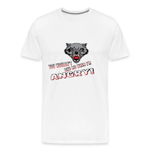 Angry Wolf - Men's Premium T-Shirt