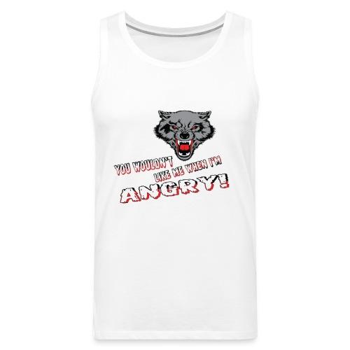Angry Wolf - Men's Premium Tank Top