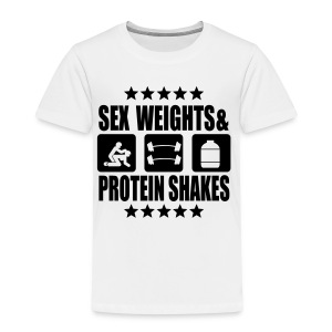 Sex, weights, proteinshakes - Kinder Premium T-Shirt