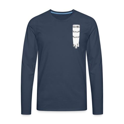 ngoma men´s v-neck navy - Männer Premium Langarmshirt