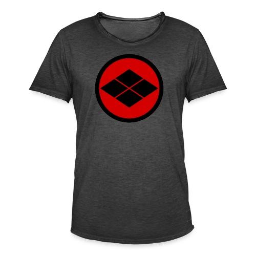 Takeda kamon Japanese samurai clan round - Men's Vintage T-Shirt