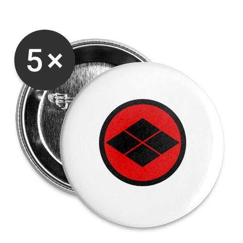 Takeda kamon Japanese samurai clan round - Buttons large 2.2''/56 mm(5-pack)