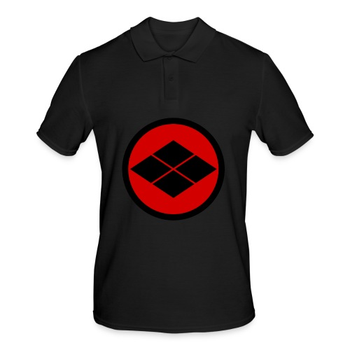 Takeda kamon Japanese samurai clan round - Men's Polo Shirt