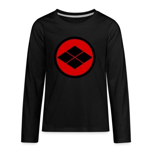 Takeda kamon Japanese samurai clan round - Teenagers' Premium Longsleeve Shirt