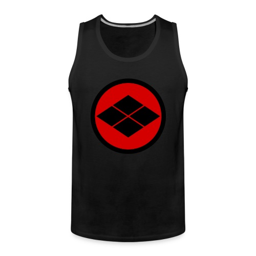 Takeda kamon Japanese samurai clan round - Men's Premium Tank Top