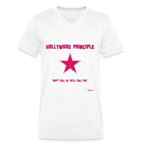 Hollywood Principle - Men's Organic V-Neck T-Shirt by Stanley & Stella