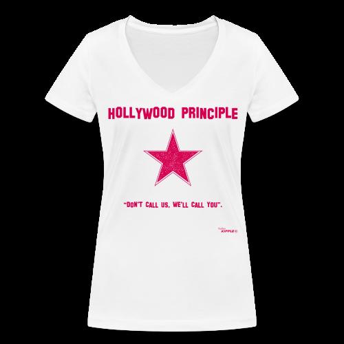 Hollywood Principle - Women's Organic V-Neck T-Shirt by Stanley & Stella
