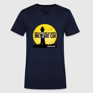 LIGHT - MARTIN LUTHER KING - Økologisk Stanley & Stella T-shirt med V-udskæring til herrer