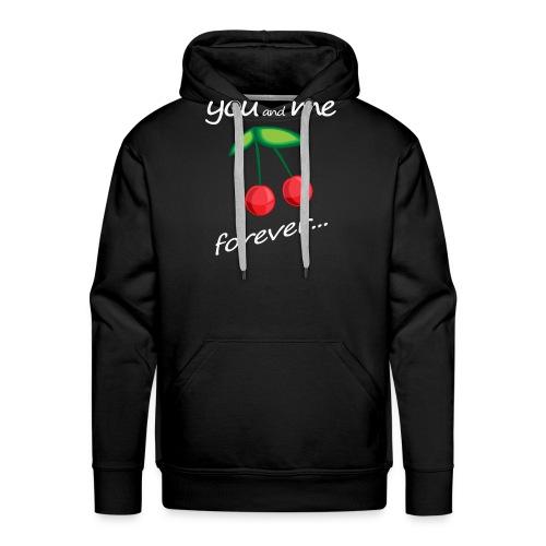 YMF Cherries - Felpa con cappuccio premium da uomo