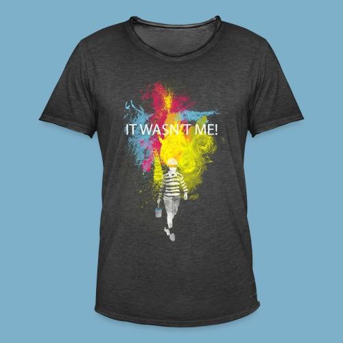 It wasnt me - Color - Männer Vintage T-Shirt