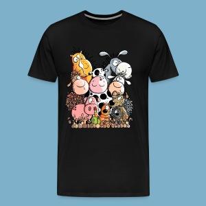 Tiere Farm - Männer Premium T-Shirt