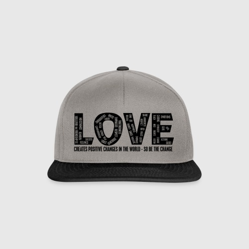 LOVE- CREATES POSITIVE CHANGES IN THE WORLD - SO BE THE CHANGE  - Snapback Cap