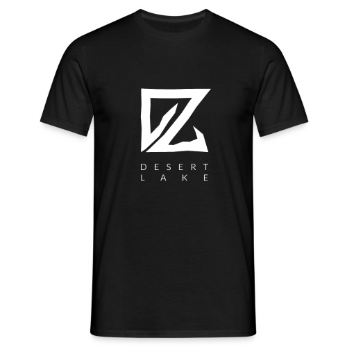 Desert Lake Logo Premium Men's Shirt Black - Männer T-Shirt