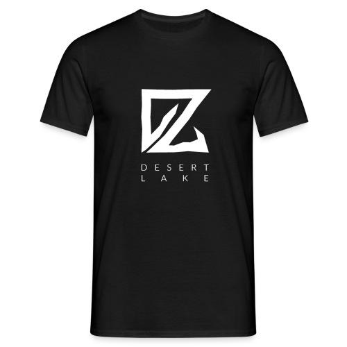 Desert Lake Logo Premium Men's Shirt Black - Männer T-Shirt