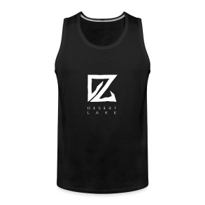 Desert Lake Logo Premium Men's Shirt Black - Männer Premium Tank Top