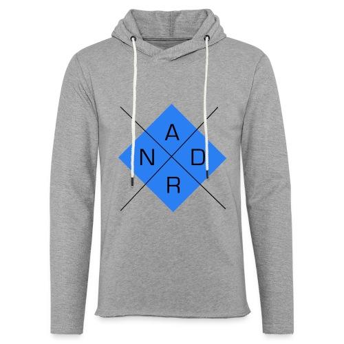 ADNR Bleu - Sweat-shirt à capuche léger unisexe