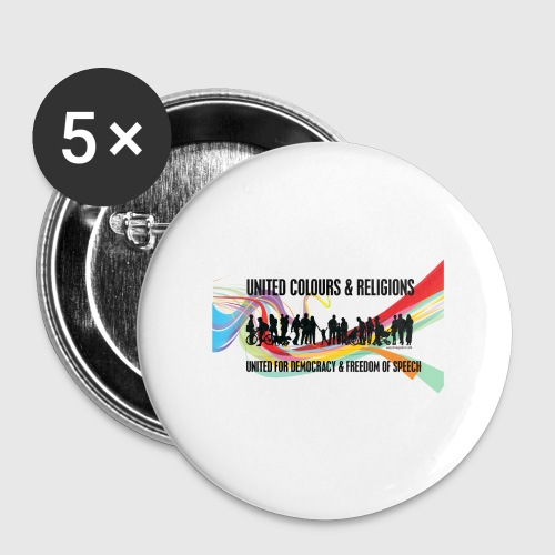 United - Buttons/Badges stor, 56 mm (5-pack)