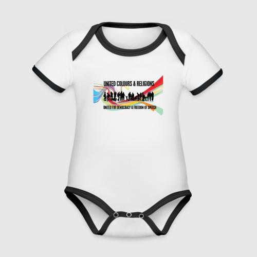 United - Kortærmet ækologisk babybody i kontrastfarver