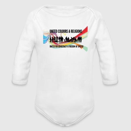 United - Langærmet babybody, økologisk bomuld