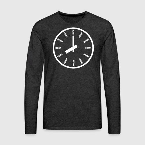 Horny - Herre premium T-shirt med lange ærmer