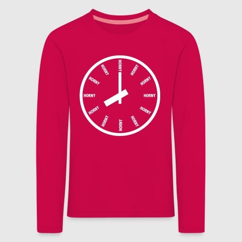 Horny - Børne premium T-shirt med lange ærmer