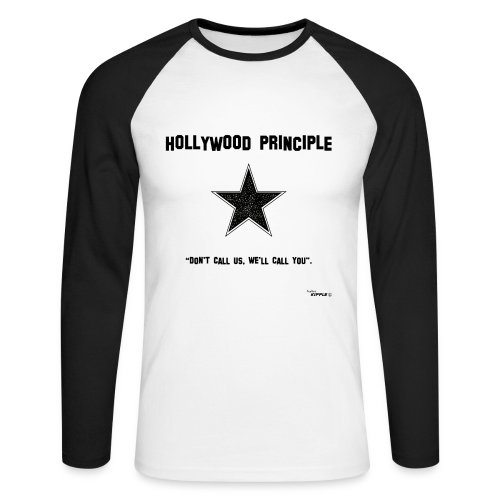 Hollywood Principle - Men's Long Sleeve Baseball T-Shirt