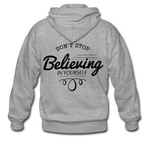 Believing - Männer Premium Kapuzenjacke