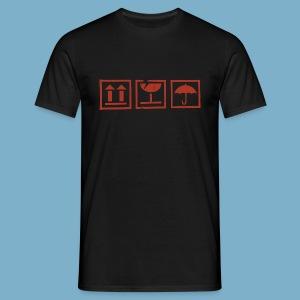 Fragile zerbrechlich Zeichen - Männer T-Shirt