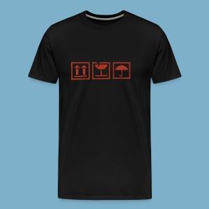 Fragile zerbrechlich Zeichen - Männer Premium T-Shirt